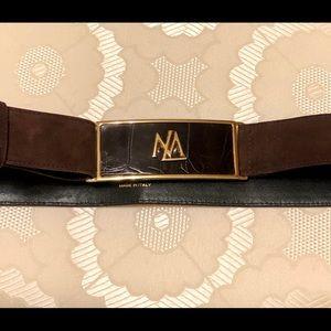 ESCADA brown suede belt